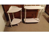 White side table 2 for sale great condition