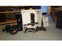 Xbox 360 250gb with kinect and games