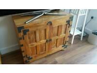 Dark solid wood sideboard