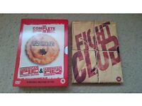 DVDs Fight Club and American Pie 1+2