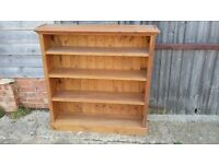 Solid Pine Bookcase Book Shelves. CD DVD