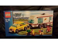 Lego 4435 City car Caravan set. 2012. retired. unused new. collectable