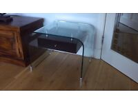 GLASS LAMP TABLE for sale