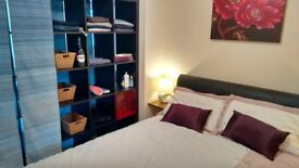 Large double room for couple (inc. cleaner, tumble dryer, games room & bills)