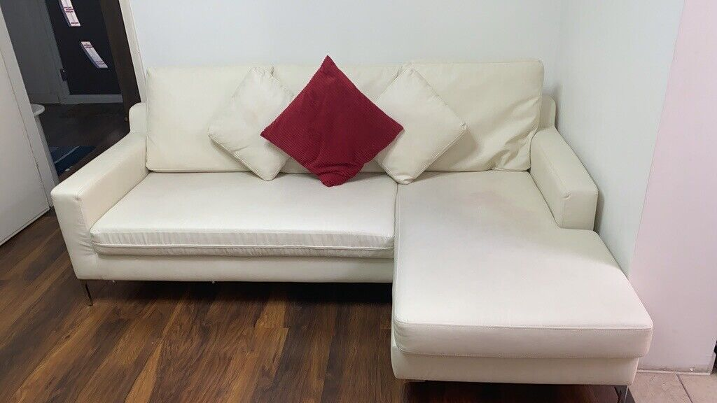 ***price Reduced***White Sofa L Shaped ***collection Only*** | In Epsom, Surrey | Gumtree