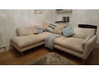 Laura Ashley Newman Beige Corner Sofa - Left hand facing