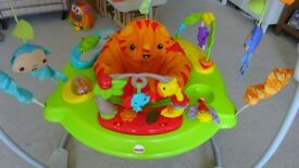 Fisher-Price Roarin Rainforest Jumperoo Baby Bouncer Seat Playset