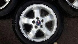 "4x Refurbished Ronal 16"" 6 Spoke Alloy Wheels with 205/55/R16 Pirelli Tyres for Saab/Vauxhall"