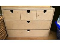 deep multi drawer wooden storage filing cabinet craft drawers knick knack unit