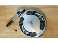 Disklok silver thatham car security anti-theft steering wheel lock