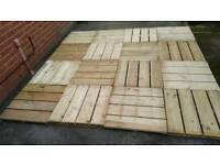 B&Q Decking tiles 16 pices each 60cm x 60cm make 2.4m x2.4m good condition!Can deliver