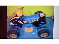 HARDLY USED AVIGO CHILDREN'S ELECTRIC RECHARGEABLE QUAD BIKE FOR SALE, FOR AGED 2.5 TO 5 YEARS OLD