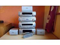 Tecnics surround sound stereo system 5 speaker SC-DV250