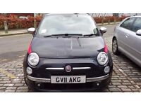 TwinAir Lounge 875cc Fiat 500 - £4650 ono - Low mileage, Crossover Black, Red Leather Interior
