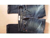 NEW Older Girls Dark Blue Skinny Jeans for