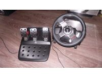 LOGITECH PADLES WITH RACING WHEEL PC PS 3