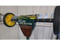 lawn scarifyer / reviver - manual, telescopic handle