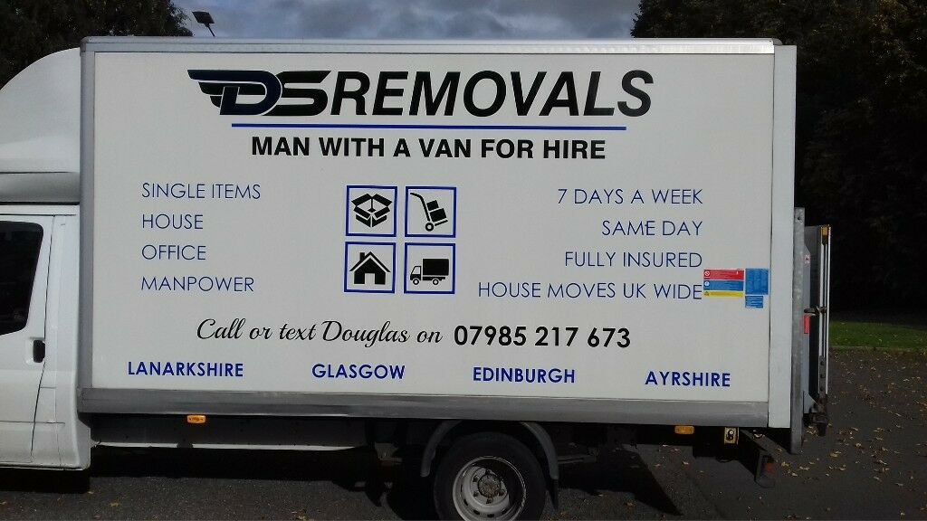 MAN WITH VAN REMOVALS LARGE LUTON VAN WITH TAILIFT SINGLE ITEMS TO FULL HOUSE MOVES