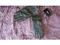 Hugo Boss Gloves Leather Men Size 8 New