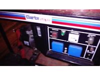 clarke fg3000 generator hardley used in very good condition ,can be seen running