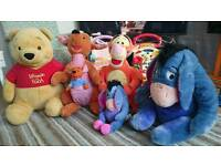 Winnie the Pooh set of large plush character toys