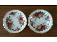 Royal Albert Old Country Roses China Coasters/Display Plates