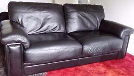 3 Seater Sofa Black Leather