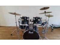 Pearl Export Rock kit with cymbals in excellent condition