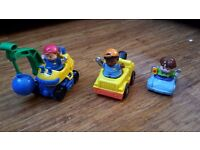 Fisher Price Little People set of 3 cars with figures