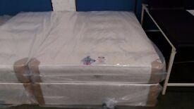 New orthopaedic double divan base and mattress