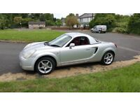 Toyota MR2 Mk3. 2003. Comes with rare hardtop. Red leather and Air Con. 6 speed manual.