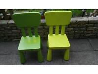 Ikea Mammut chairs for children