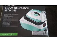 BRAND NEW Easy Home 2300 Watt Steam Generator Iron Set