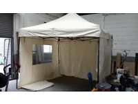 GAZEBO 3M X 3M , POP-UP QUALITY STURDY FRAME, 4 X SIDES USED ( EASY GAZEBO)