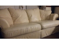 hand made in wales leather settee 3/2 seater