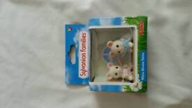 Sylvanian Families. White mouse twins.