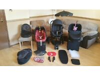 Quinny Moodd Pushchair Pram Stroller Travel System With Maxi Cosi Car Seat - Adaptors & Accessories