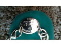 necklace and bracelet silver