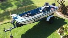 Aluminium Boat Stacer Punt 4.1M Length Boat and Trailer Rego Caboolture Area Preview