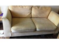 Large fabric 2-seater sofa