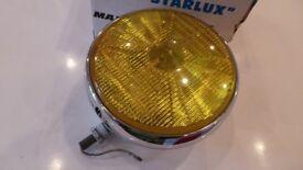Vintage Marchal Starlux Major 10DE - Fog Light Headlight Yellow Lens