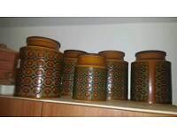 Set of 5 large Bronte storage jars