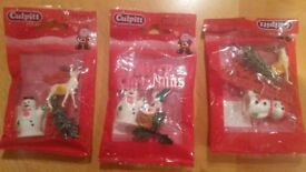 Culpitt Plastic Christmas Cake Decorations pack