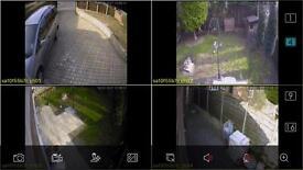 CCTV camera with installation
