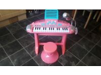 ELC pink keyboard with stool