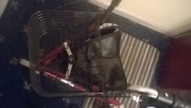 Drive 3 wheel rollator with basket and bag