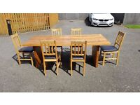 7Ft Oak Veneer Dining Table NO CHAIRS FREE DELIVERY (02101)