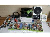 Boxed XBOX 360 250gb Console , Kinect, Disney Infinity and 30 Games