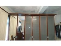 Ikea - pax & komplement 3 unit floor to ceiling mirrored wardrobes 7ft 5 High