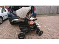 MUST GO TODAY Pram/pushchair/buggy/stroller with car seat and soft carrycot